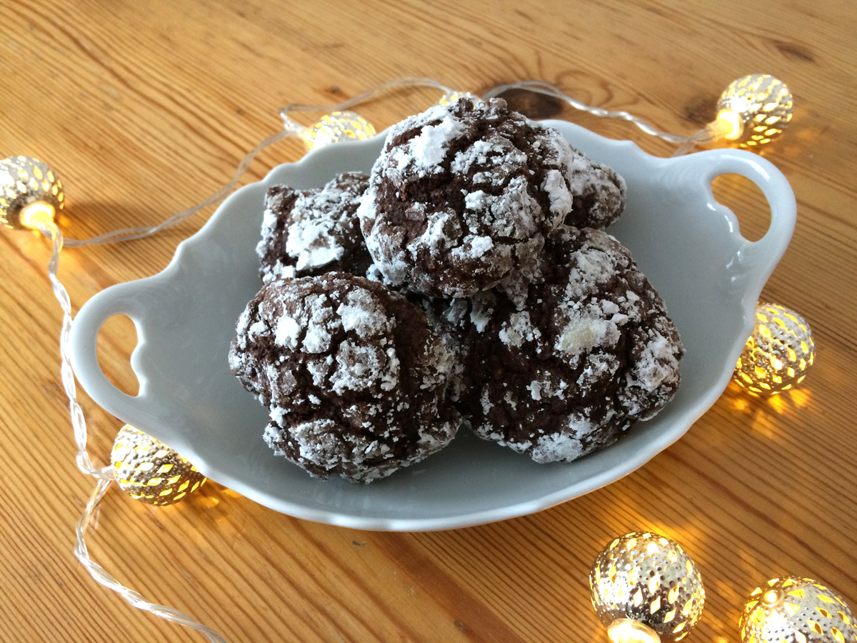 Coffee Crackle Cookies